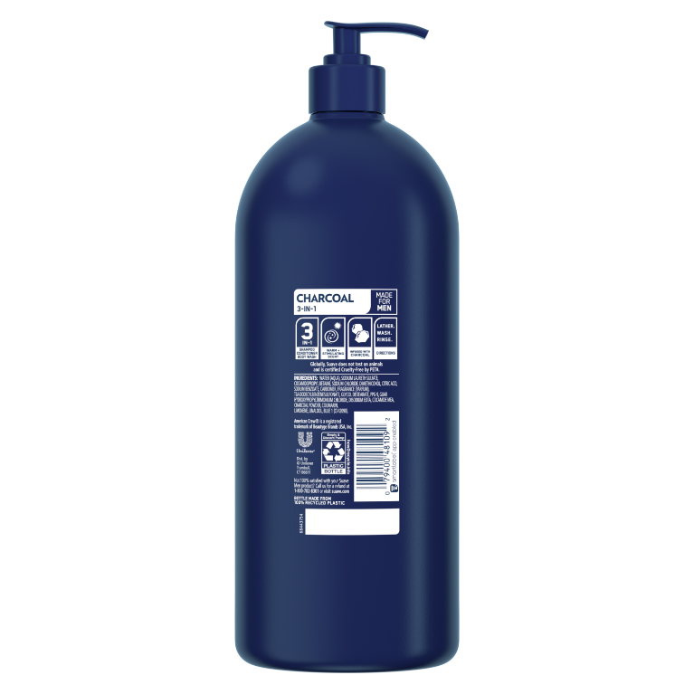 3-in-1 Shampoo + Conditioner + Charcoal Body Wash BOP 40oz