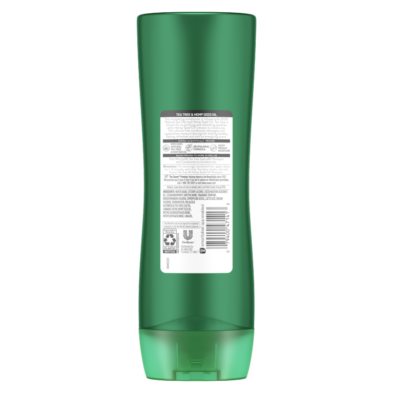 Tea Tree Hemp Conditioner 15oz Back of Pack