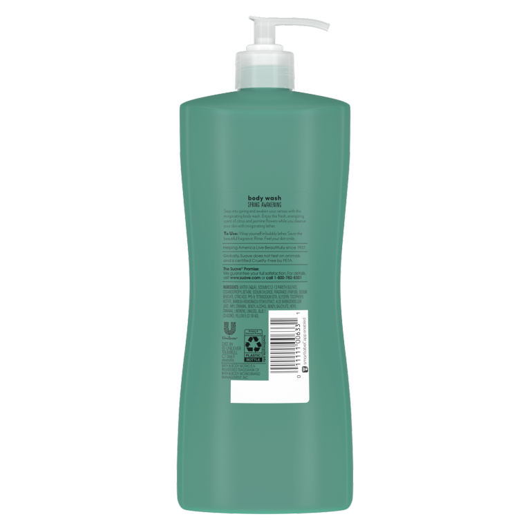 Spring Awakening Body Wash Back of Pack