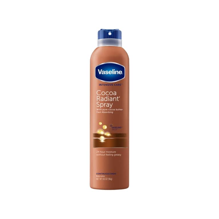 Vaseline® Spray Body Lotion Cocoa Radiant 6.5 oz FOP