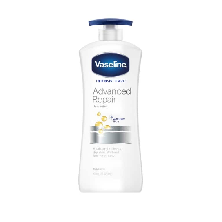 Vaseline® Intensive Care™ Body Lotion Advanced Repair Unscented 20.3 oz FOP