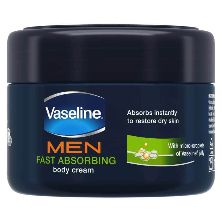 Vaseline® MEN Fast Absorbing Moisturising Body Cream 250ml