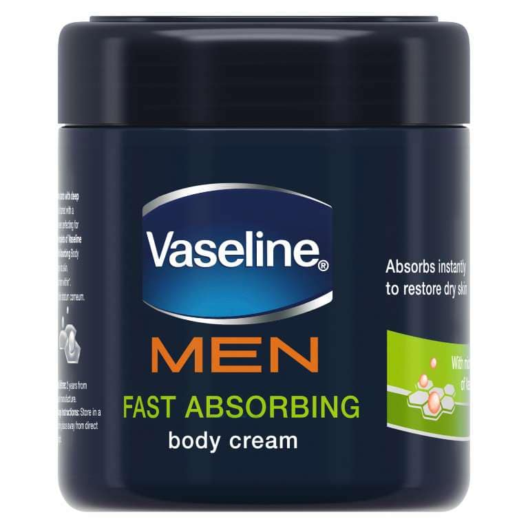 Vaseline® MEN Fast Absorbing Moisturising Body Cream 400ml