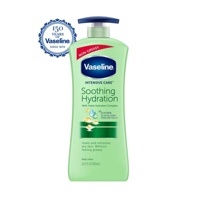 Vaseline® Intensive Care™ Body Lotion Soothing Hydration 20.3 oz FOP