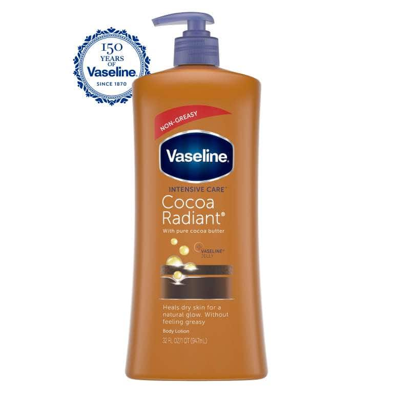 Vaseline® Intensive Care™ Body Lotion Cocoa Radiant 32 oz FOP