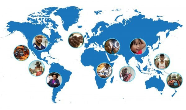 Vaseline Healing Project World Map
