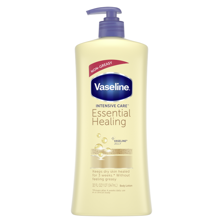 Vaseline® Intensive Care™ Body Lotion Essential Healing 32 oz FOP