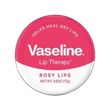 Vaseline® Lip Therapy® Rosy Lip Balm Tin 0.6 oz FOP