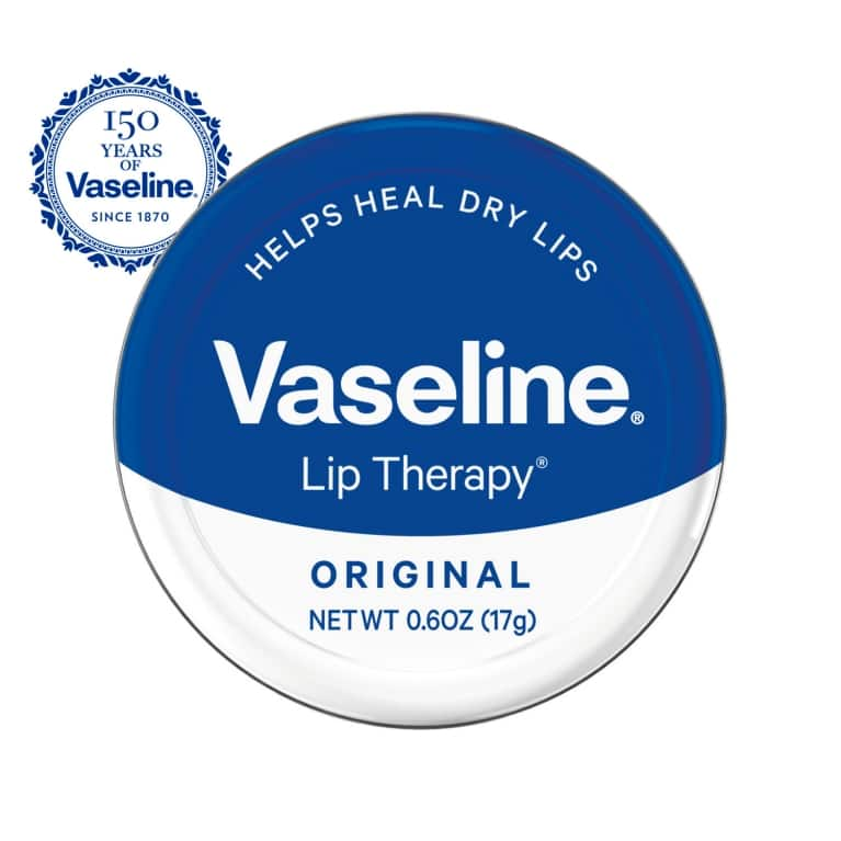 Vaseline® Lip Therapy® Original Lip Balm Tin 0.6 oz FOP