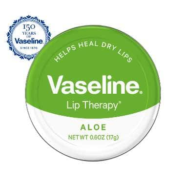 Vaseline® Lip Therapy® Aloe Lip Balm Tin 0.6 oz FOP