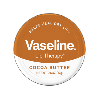 Vaseline® Lip Therapy® Cocoa Butter Lip Balm Tin 0.6 oz FOP