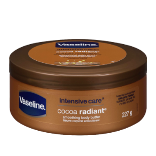 61 Vaseline Body Butter Cocoa Radiant 8 oz FOP