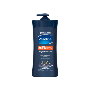 Vaseline Men Healing Moisture Fragrance Free Body and Face Lotion 20.3