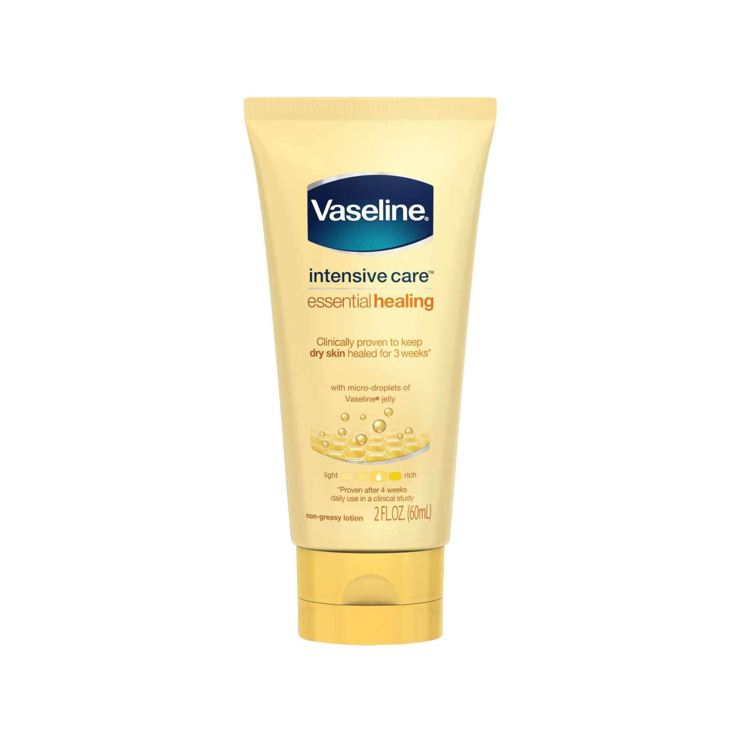 Vaseline® Intensive Care™ Essential Healing Body Lotion 2 oz FOP