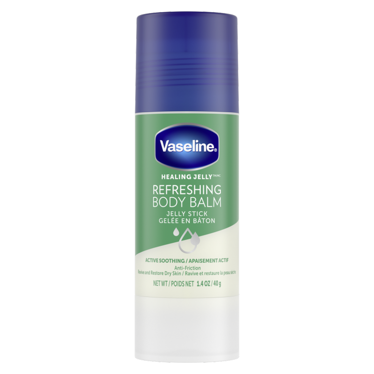Vaseline® Refreshing Body Balm Jelly Stick Front of Pack 1.4oz
